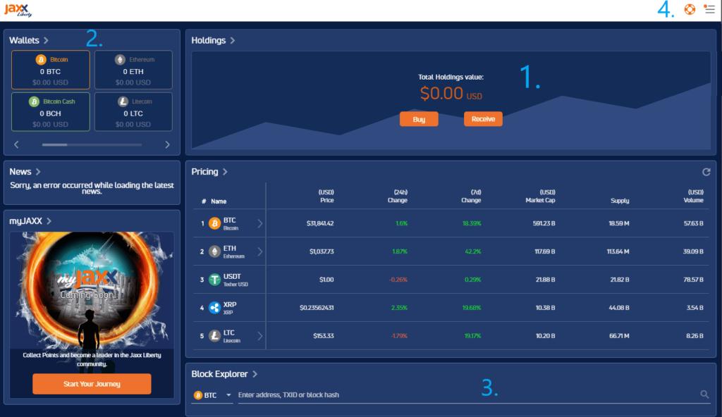 Обзор приложения Jaxx кошелька